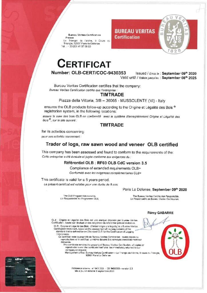 thumbnail of Certification-OLB-TimTrade-Srl-2